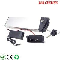 Alta potência bicicleta dobrável bateria escondida 48V 11.6Ah/14Ah Li ion bateria caso prata forLankeleisi G660 ebike dobrar com carregador|Bateria de bicicleta elétrica| |  -