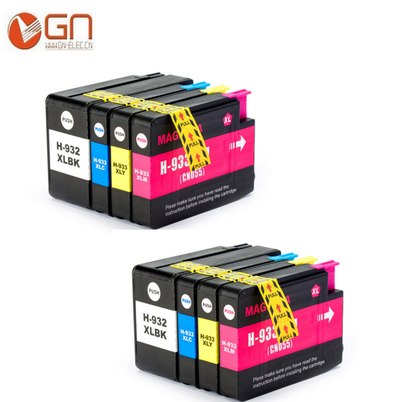 GN Compatible for HP 932 933 Ink Cartridges 932XL 933XL OfficeJet 6100 6600 6700 7110 7610 7612 Printer With chips