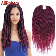 Afro Twist Crochet Hair 14Inch 30Strands Havana Mambo Twist Crochet Braids Synthetic Crochet Braiding Hair Extensions 60g/pack