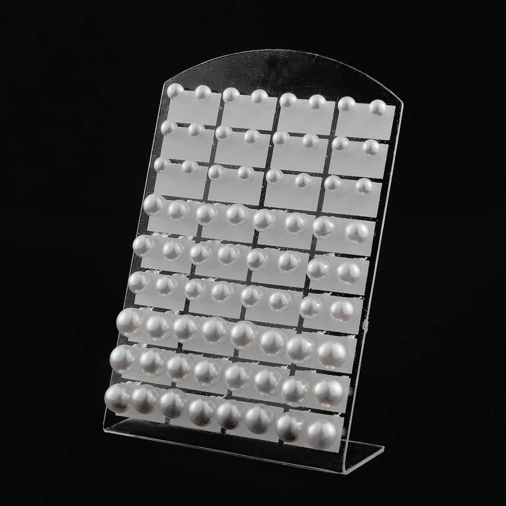 36 Pairs One Set 6 8 10mm Bead White Round Imitation Pearls Earrings Stud with Stainless Steel Earring Stick Jewelry