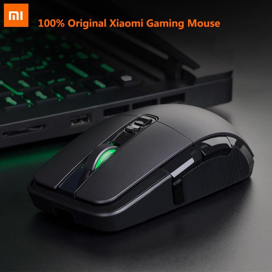 D'origine Xiaomi souris de gamer Portable Usb/Sans Fil 2.4 GHz Double Mode 7200 Dpi 6 Bouton RGB souris de jeu led MacOS Fenêtres souris gamer
