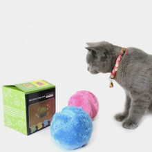 Magic Roller Ball Dog Cat Toy Activation Automatic Chew Plush Floor Clean Toys Electric Pet
