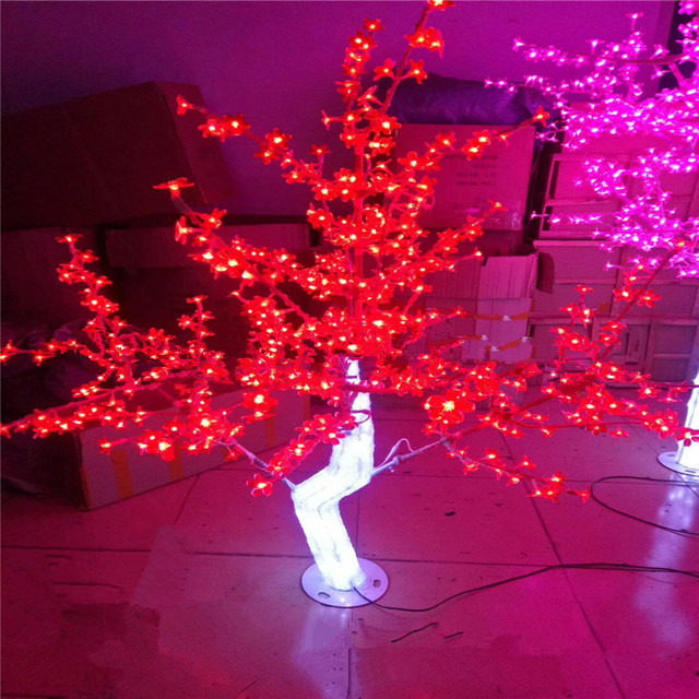Outdoor Waterproof Artificial 1 2m 4ft Led Cherry Blossom Tree 240leds Red Christmas Light For