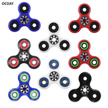 OCDAY Finger Spinner 8 Styles Hand Spinner Tri-Spinner Toy Stress Relief Toys Anti Stress Fingertip Toys Unique Fidget Spinner