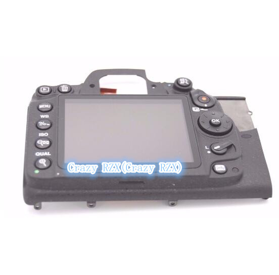 90%new For NIKON D7000 REAR BACK COVER With LCD SCREEN REPLACEMENT REPAIR PART d7000 rear back cover shell with lcd button fpc for nikon d7000 for nikon