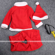 Fashion Newborn Baby Boy Girl Santa Christmas Hat Cardigan Rompers Outfit Costume Set