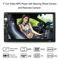 7 inch Universal Double Din HD BT Car Radio MP5 Player Multimedia Entertainment Support Steering Wheel Control Rear View Camera