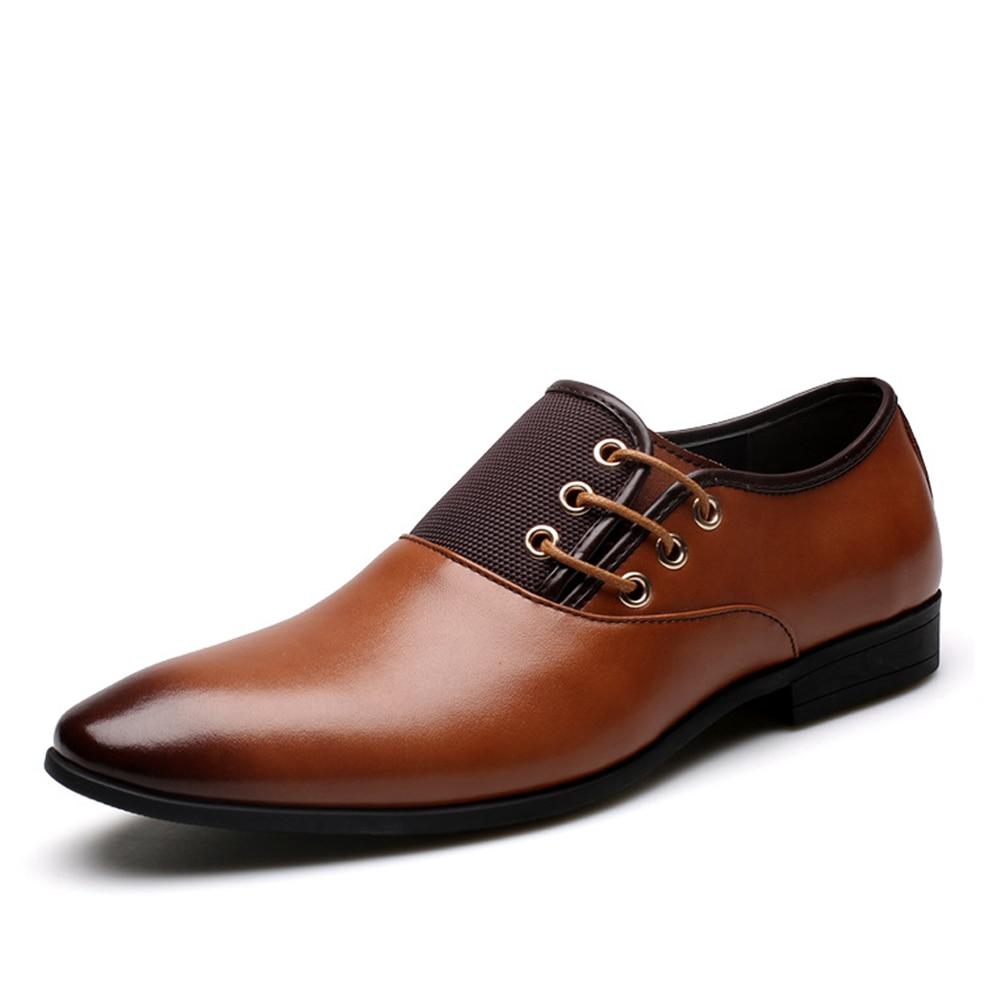 À Black Qffaz Véritable yellow Lacets Hommes Robe Cuir Haute Brown D'affaires Chaussures Appartements Nouveau Qualité brown Oxford U4qYOSU