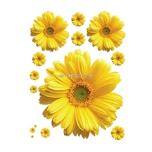Yellow Flowers Decorative 3D Wall Sticker Decal DIY Art Mural Home Room Decor   UU78