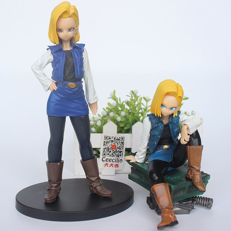 2style Anime Dragon Ball Z Android 18 Figurine Tenkaichi Colosseum Girl lazuli PVC Action Figure Collection Model Toys фигурка planet of the apes action figure classic gorilla soldier 2 pack 18 см