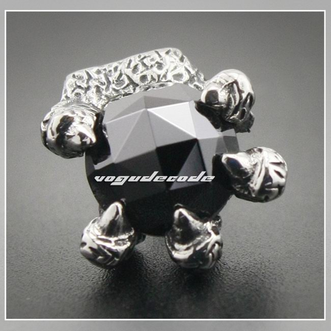 1 Piece Unique 316l Stainless Steel Dragon Claw Black Stone Men S Stud Earrings 3l012 In From Jewelry Accessories On Aliexpress