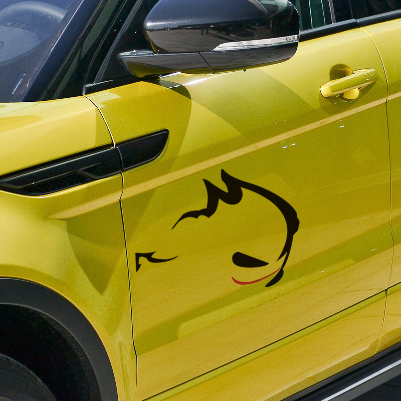 EVIL RABBIT design car styling ,reflective car rear window decor stickers and decals for VW GOLF 4 6 /POLO/CC and so on