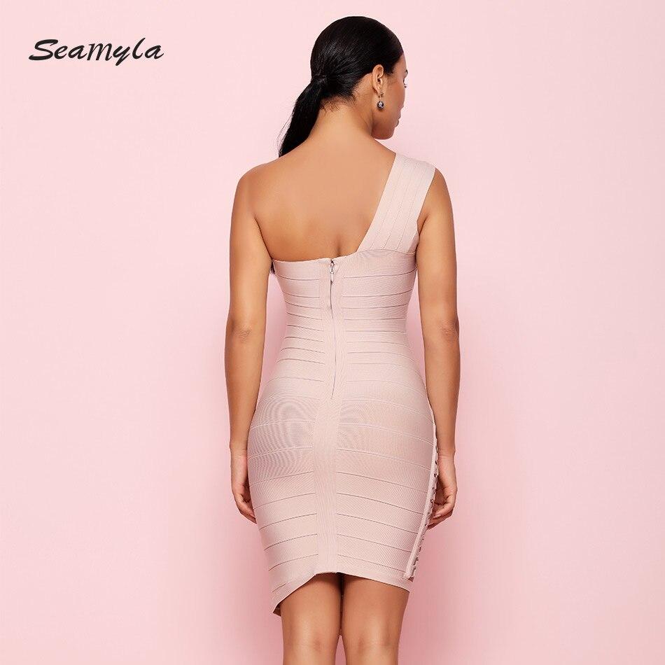 sukienka Vestidos ramię bandaż