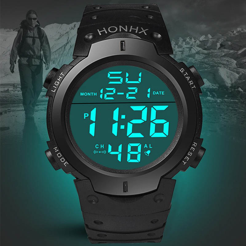 LED Men Women Digital Watch Sports Military Wristwatch Electronic Display Retro Wrist Watches Male Army Clock Relogio Masculino