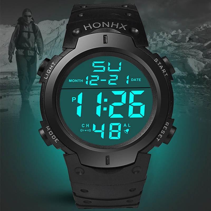 LED Men Women Digital Watch Sports Military Wristwatch Electronic Display Retro Wrist Watches Male Army Clock Relogio Masculino