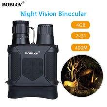 BOBLOV NV400 Infrared Digital Night Vision Telescope Pembesaran Tinggi dengan Video Output Fungsi Berburu Monocular 400m View