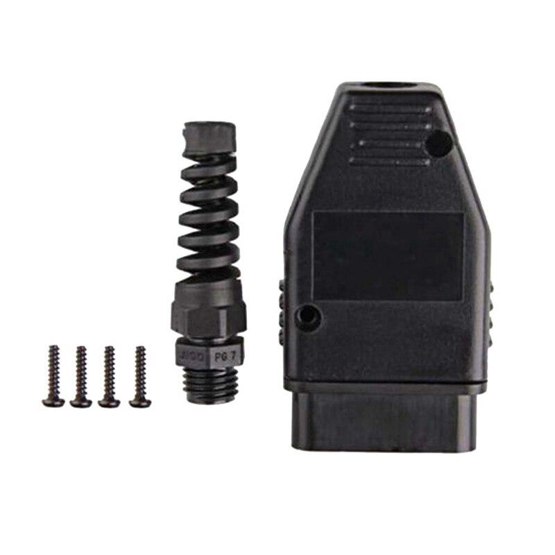 KWOKKER Hot Selling 5pcs OBD2/OBDII/EOBD/JOBD/ODB/ ODB2/ODBII/EOBD2/OBD11/ODB11/J1962 Male Connector Plug Wiring Adapter