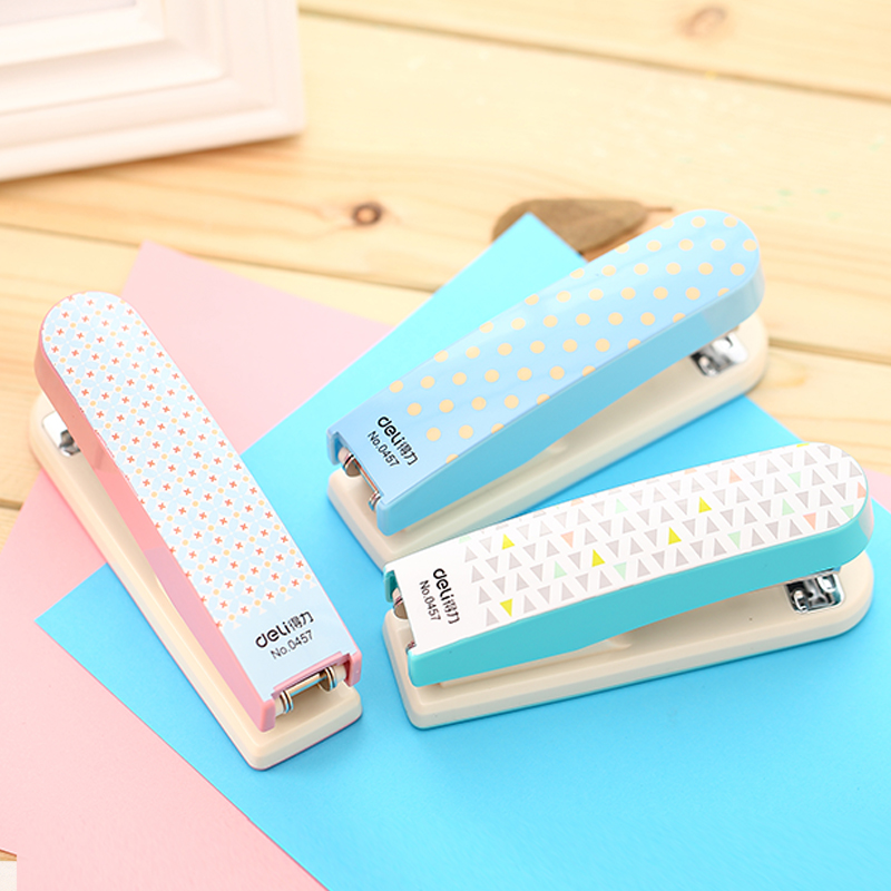 1 Pc Candy Color Mini Stapler For Student 3 Colors Boy