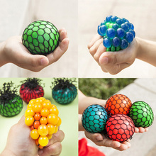 5cm Toys Antistress Face Reliever Grape Ball Autism Mood Squeeze Relief Healthy Toys Funny Geek Gadget