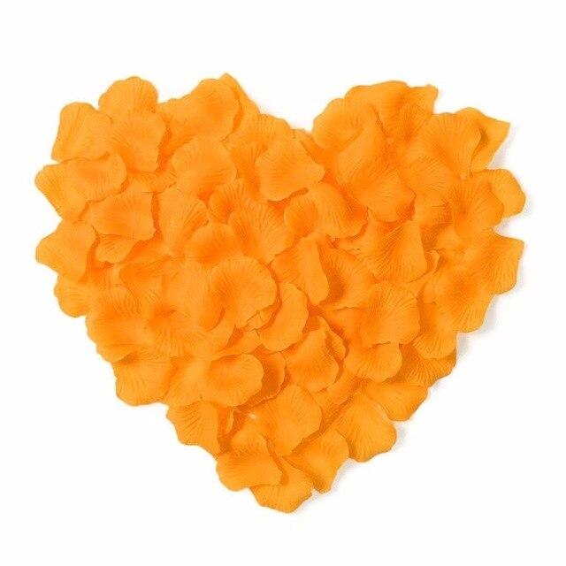 2000 шт. / партия 5* 5 см шелковые лепестки роз на свадьбу, Романтические искусственные лепестки роз Свадебные розы - Цвет: Orange