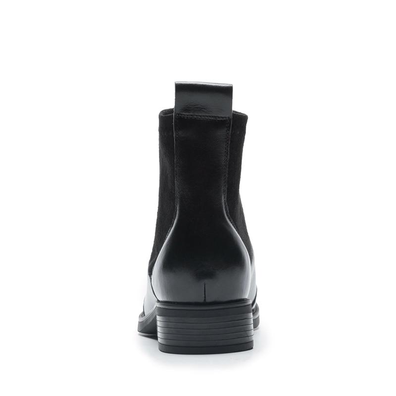 34 Bottines Enmayer Taille D'hiver sur De Véritable Bout Slip 40 Base Cuir black Apricot Pointu En Bottes Zyl1705 qnOrwFqz7