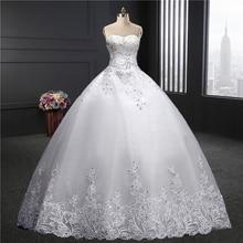 Милая торжественное платье 2018 Весна-осень Новая мода Корейский плюс размеры Паффи Невеста замуж кружевное платье длиной до пола