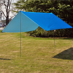 Image 3 - 3Mx3M Waterproof Sun Shelter Tent Tarp Anti UV Beach Tent Shade Outdoor Camping Hammock Rain Fly Camping Sunshade Awning Canopy