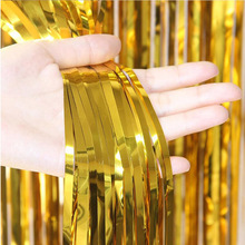 2M 3M Shimmering Foil Tinsel Fringe Curtain Photography Background Decoration Wedding Birthday Party Decor Supplies