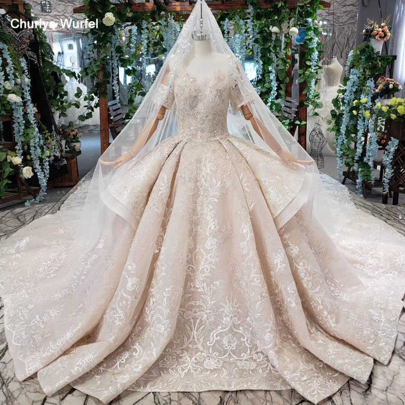 HTL454 luxury wedding dresses with wedding veil tassel off the shoulder appliques ball gown lace wedding gowns abiti da sposa