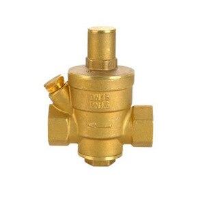 Image 3 - Dn15 dn20 dn25 bronze água pressão reduzindo manutenção válvulas regulador mayitr ajustável válvulas de alívio com medidor