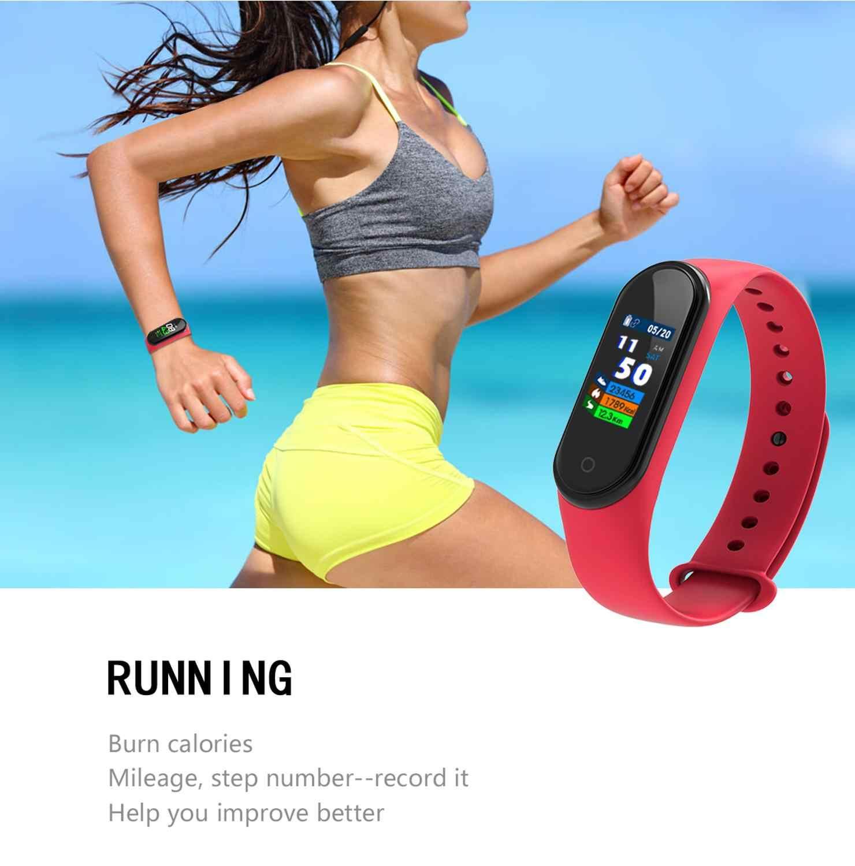 Bracelet de Sport bande intelligente de mode montre moniteur de fréquence cardiaque Calories Tracker de Fitness IP67 Bracelet étanche M4 pour Android iOS