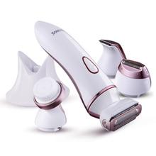 4 in 1 Lady Shaver Razor blades for Women Electric Epilator Beauty Care Rechargeable Epilator for Bikini/ Face/ Body/ Underarm