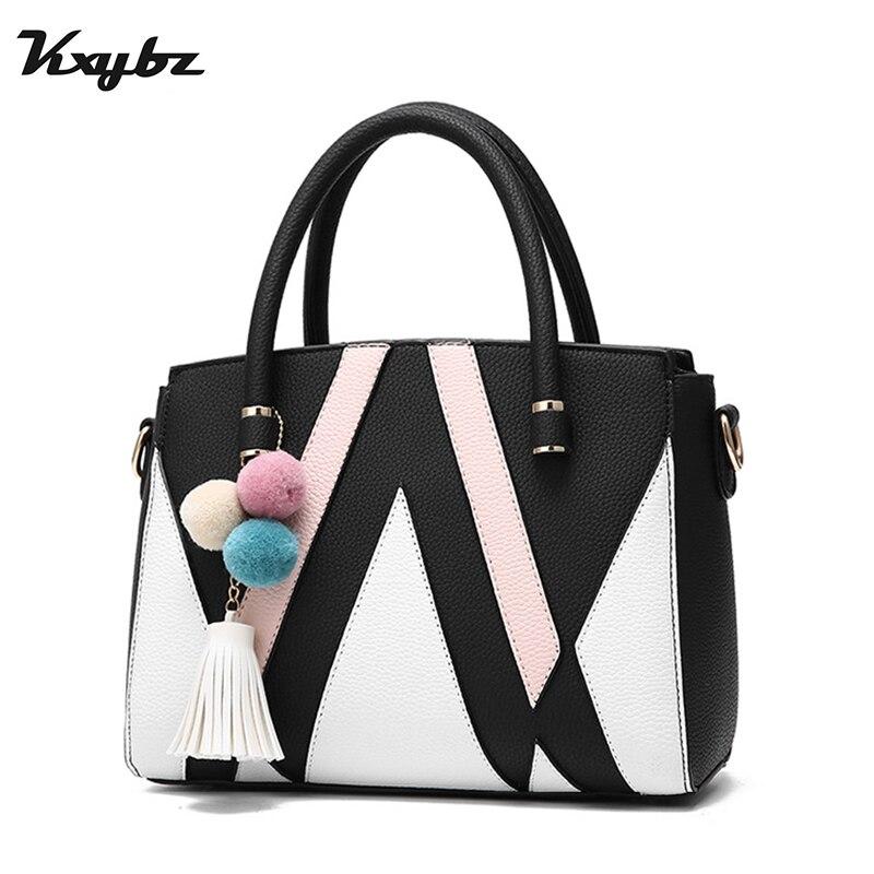 KXYBZ известный Для женщин сумки Повседневное лоскутное панелями Для женщин Сумка Элегантный Для женщин сумка дизайнер Crossbody сумка для Для же...