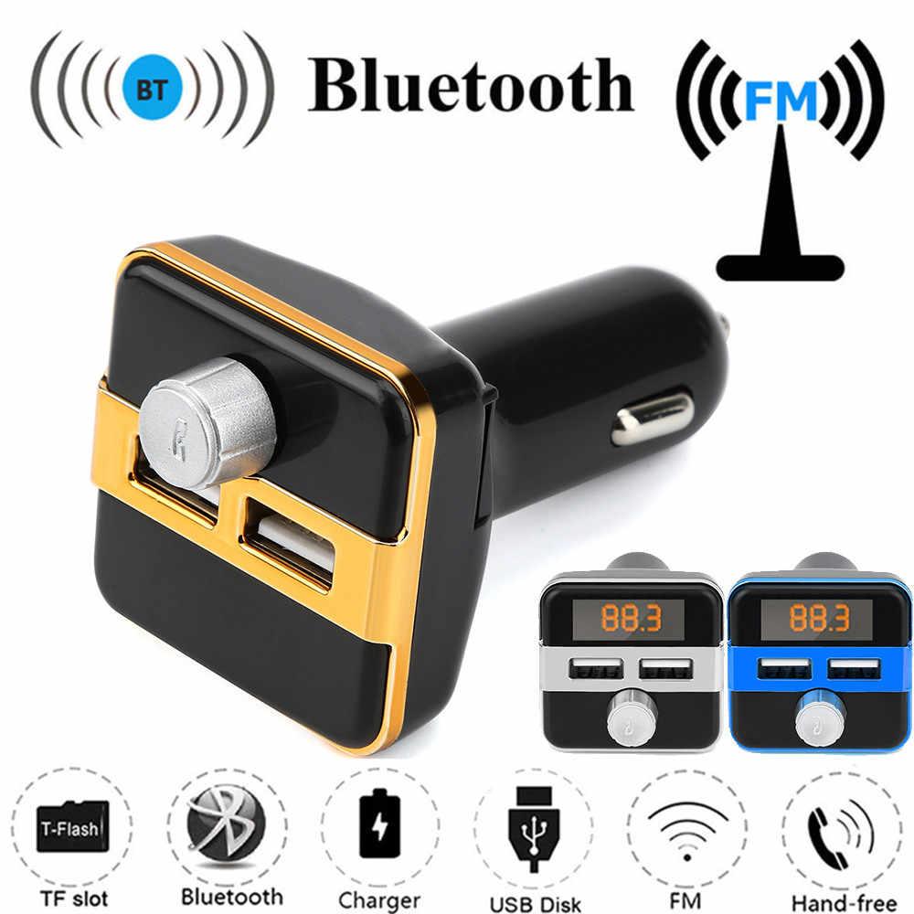 フランチャイズ 2019 多機能 Bluetooth FM 液晶トランスミッタワイヤレス MP3 TF ラジオアダプタ USB 充電器カーキット Usb に Mp3 アダプタ #