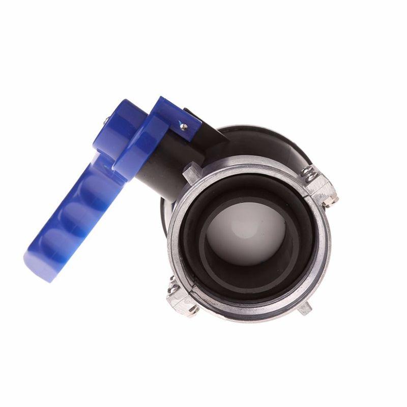 Ibc Tote Tank Ball Valve Drain Adapter 6.2Cm/2.44 Inch Coarse Thread Interface Straight-Through Ibc Ton Barrel Valve Fixed Bal