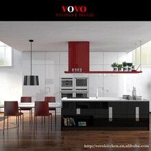 Современные high gloss black лак кухонные шкафы