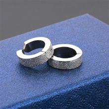 1 пара модных серег rongqing круглые Клипсы из нержавеющей стали