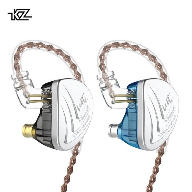 KZ AS16 8BA ドライバーユニットで耳イヤホン 8 バランスアーマチュア Hifi モニター解像度 IEM 取り外し可能な 2Pin ケーブル CCA C16 c10 TRN X6