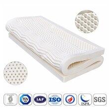 Colchón de látex Natural con funda interior estera de Tatami japonesa, vértebra Cervical, 7 zonas, colchón de cama con liberación de presión corporal