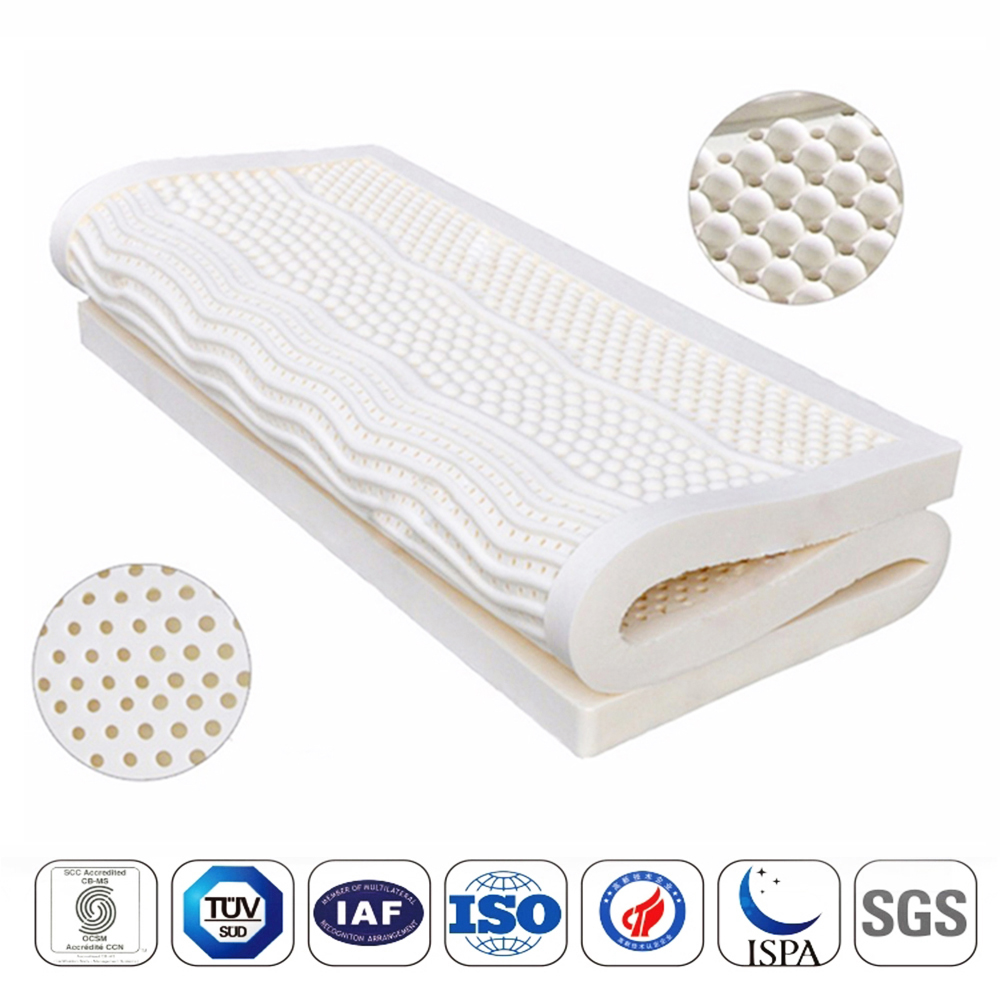 Latex-Mattress Natural Japan with Inner-Case Cervical-Vertebra 7-zone/Body-pressure/Release title=
