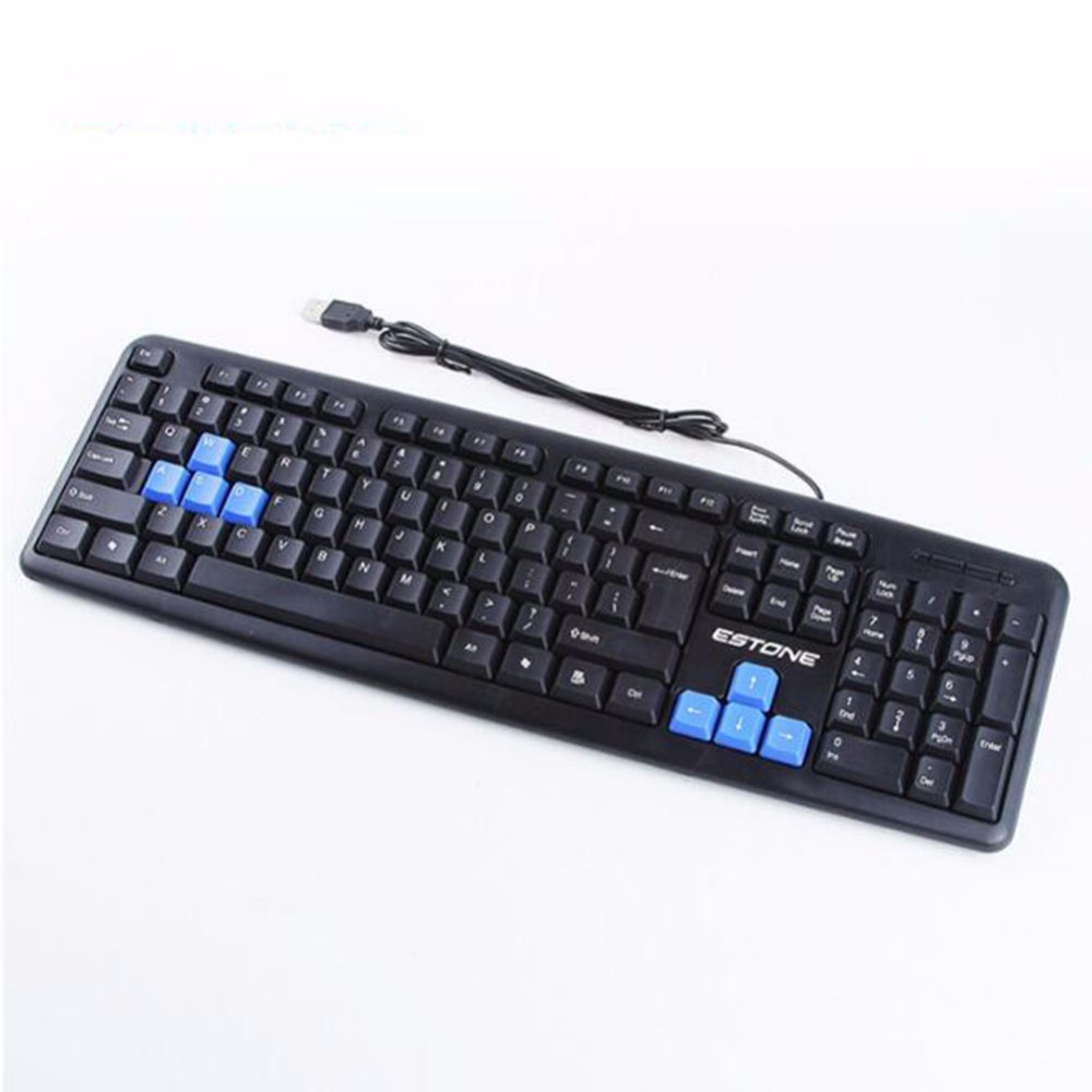 1 Pc Durable Waterproof Ergonomically-designed Wired Keyboard for Home & Office & Computer & Game