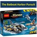 Decool 7113 Super Heroes Цифры Бэтмен Batboat Гавани Преследование Совместимость Legoes 76034 Super Heroes Строительные Блоки Игрушки