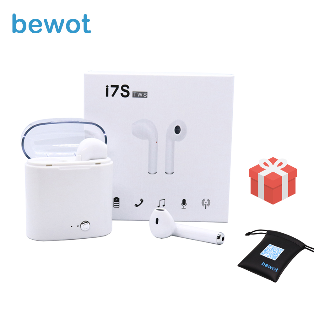 Bewot Bluetooth auriculares nuevo TWS i7S verdadera auricular inalámbrico auricular portátil para iPhone Xiaomi Huawei