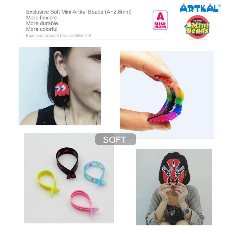 36 cuentas Artkal exclusivas cuentas blandas caja Set Perler A 2.6mm Mini cuentas juguetes educativos CA36 - 3