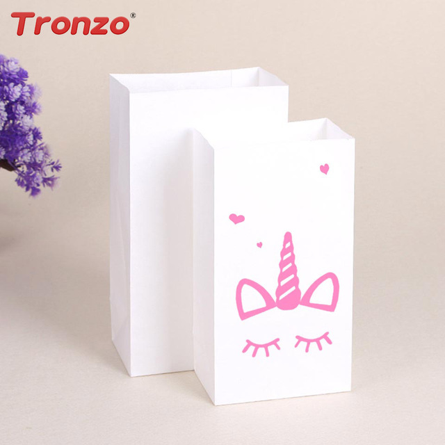 Tronzo Unicorn Paper Gift Bag Wedding Favors And Gifts 10pcs Bags Biscuits Packages Birthday Party Decorations Kids