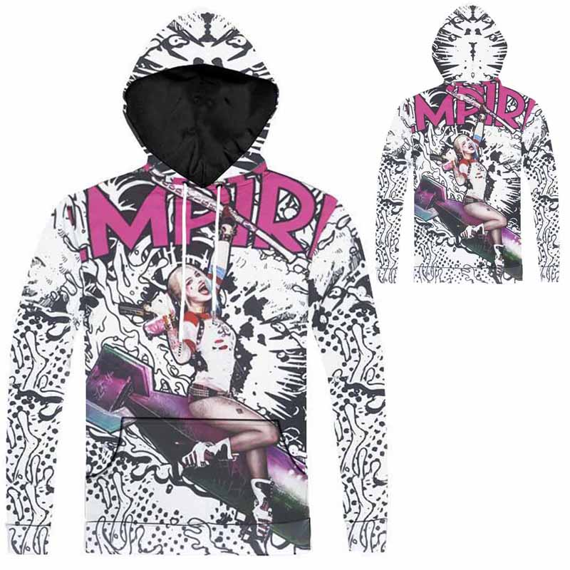 8 Styles Suicide Squad 3D Harley Quinn Cosplay Hoodies Sweatshirts Harley Quinn Pullover Joker Costume Hoodies-in Anime Costumes from Novelty u0026 Special Use ...  sc 1 st  AliExpress.com & 8 Styles Suicide Squad 3D Harley Quinn Cosplay Hoodies Sweatshirts ...