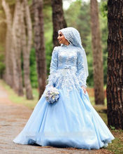 Jark Tozr Long Sleeve Appliques Muslim Wedding Dress With Hijab Robe De Mariage Musulman Custom Made Plus Size Bridal Gowns 2017
