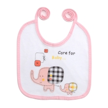 Lovely Elephant Printed Waterproof Cotton Bib
