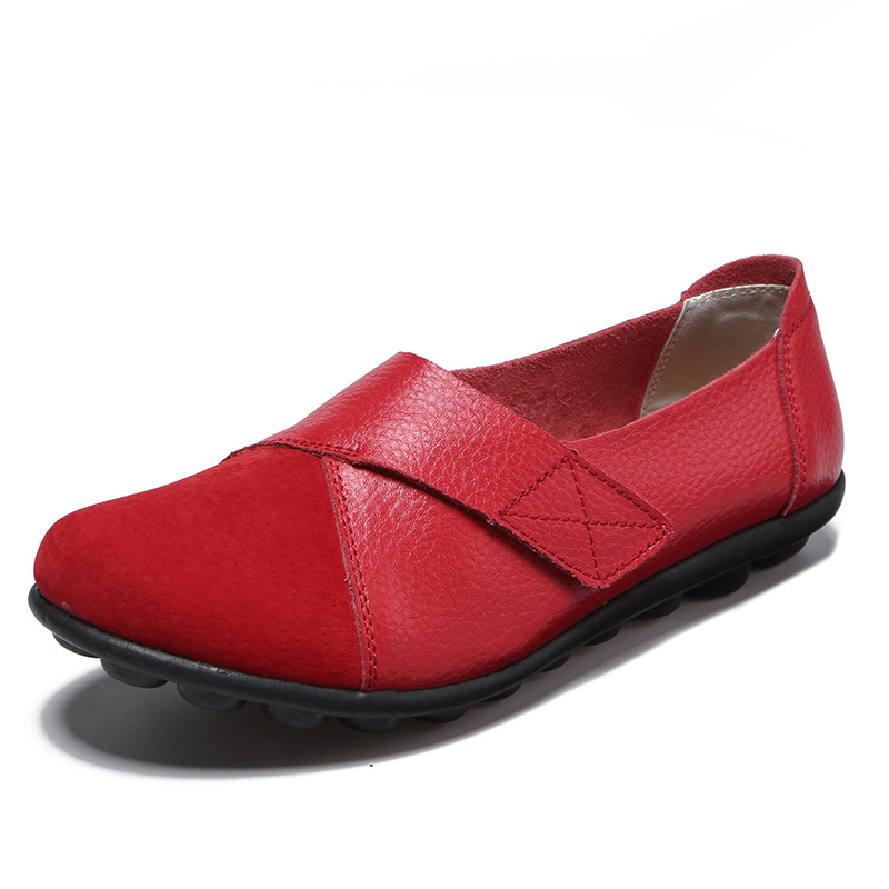 UVWP Shoes Flats Soft-Loafers Spring Women Moccasins Non-Slip Autumn Genuine-Leather