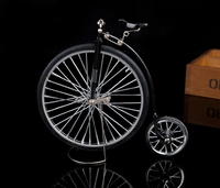 Retro Wheel Bike Model Toy Metal Simulation Bike Classic Car